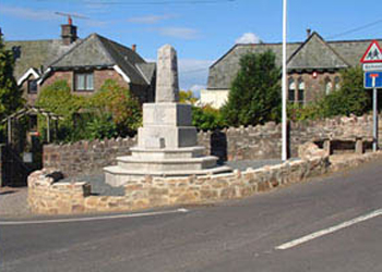 The War Memorial at Wheddon Cross