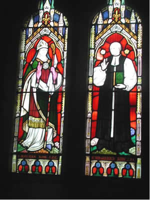 Stain glass window  St John's Church, Cutcombe
